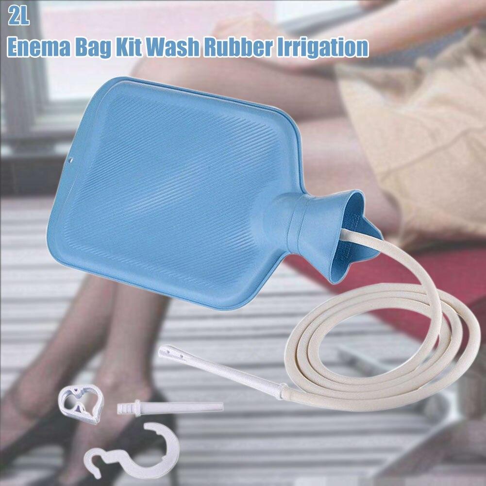 2L Wash Colon Cleansing Non Toxic Irrigation Detoxified Enteroclism Purification Vaginal Personal Health Enema Bag Kit Reusable