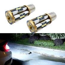 цена на 2x Canbus P21W 1156 BA15S S25 Led Bulbs Car Blinker front Stop Rear Fog Lamp Tail Reverse Light for BMW E46 1999 - 2005 White