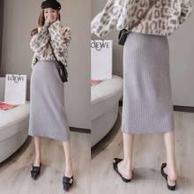 Faldas mujer moda 2020 lange REPÚBLICA DE COREA mujer faldas vrouw rokken jupe taille alta femme jupe hiver faldas largas de mujer coreana