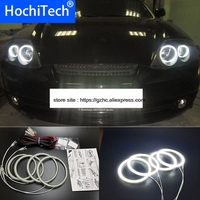 HochiTech Ultra bright SMD white LED angel eyes 2500LM 12V halo ring kit daytime running light DRL for Hyundai Tiburon 2003 2006