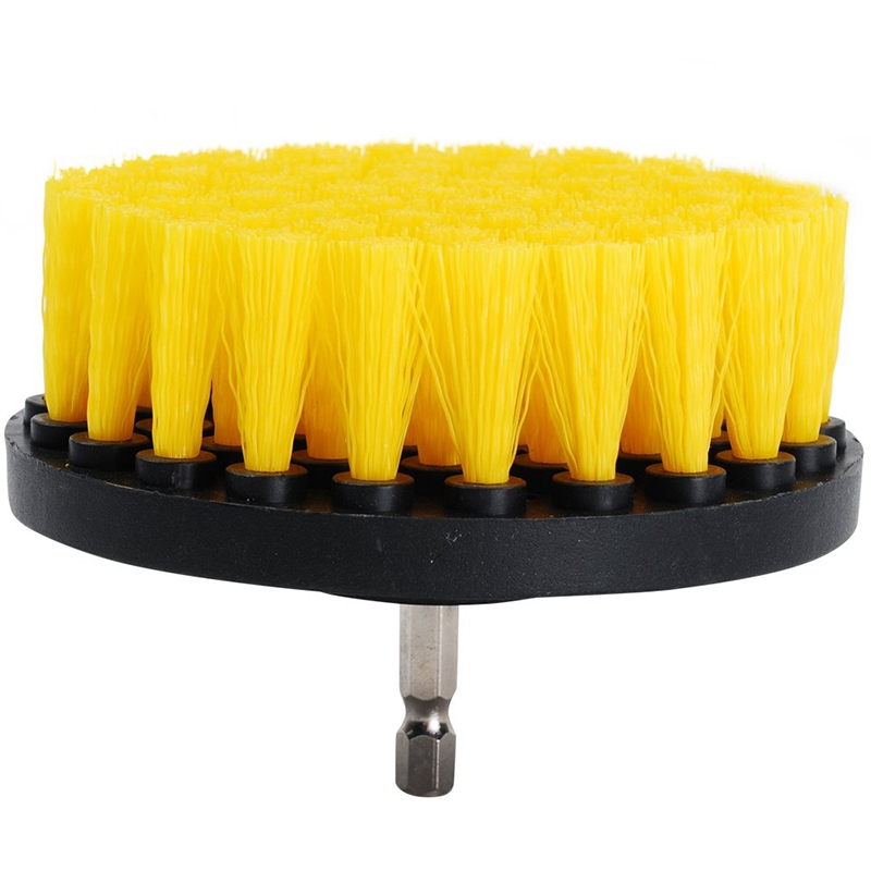 2pcs Drill Brush  4 Inch Drill Brush Bathroom Scrubber  Drill Brush Attachment Cleaning For Bathroom Shower Tile And Grout All P|Cleaning Brushes| |  - title=