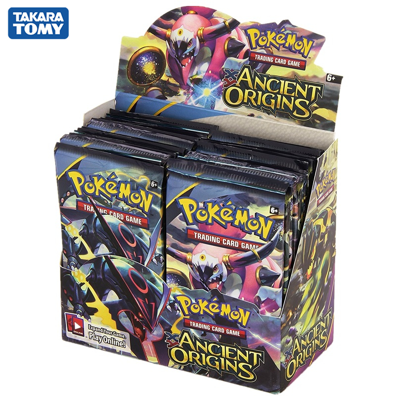 324pcs/box Pokemon Trading Card Game XY Ancient Origins Display Booster Box With EX Cards Kids Toys