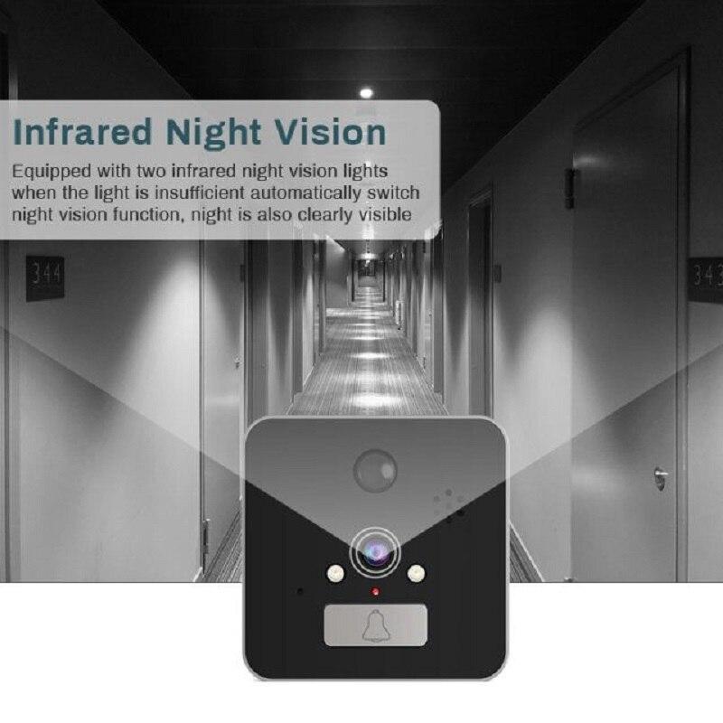 Saful 5 ''Wifi porte judas visionneuse porte caméra 120 degrés avec détection de mouvement Vision nocturne sonnette de maison intelligente - 3