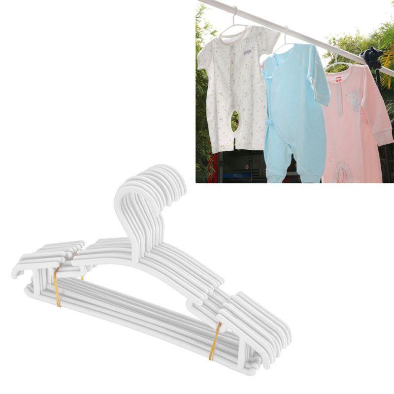 2019 10 Pack White Plastic Nursery Hangers Nonslip Baby Coat Hangers Space Saving Tubular Hangers For Kids Children Clothes Grooming Healthcare Kits Aliexpress