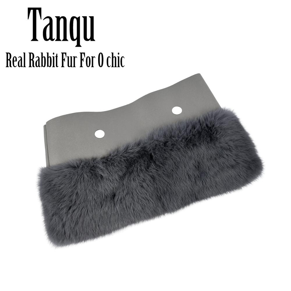 Tanqu New Women Bag Rabbit Fur Trims Plush Trim For Chic O BAG Thermal Plush Decoration Fit For Ochic Obag
