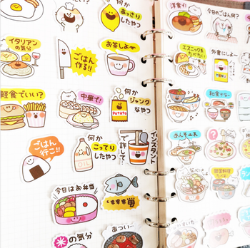 40Pcs Delicious food mini paper sticker fridge decoration DIY diary scrapbooking seal sticker kawaii stationery