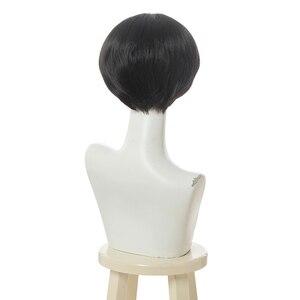 Image 3 - L メールかつらトイレ結合花子くんコスプレウィッグ Jibaku Shounen 花子くんコスプレ黒ショートかつら耐熱人工毛