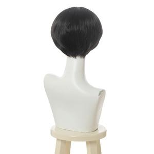 Image 3 - L email wig Toilet Bound Hanako kun Cosplay Wig Jibaku Shounen Hanako kun Cosplay Black Short Wig Heat Resistant Synthetic Hair