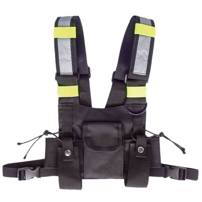 Walkie Talkie Vest Fluorescent Vest Storage Bag Chest Bag|Hunting Vests| |  - title=