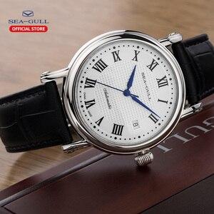 Image 4 - 2019 חדש שחף עסקי שעון גברים מכאני שעון 50 מטרים עמיד למים עור אופנה גברים של שעון 819.368