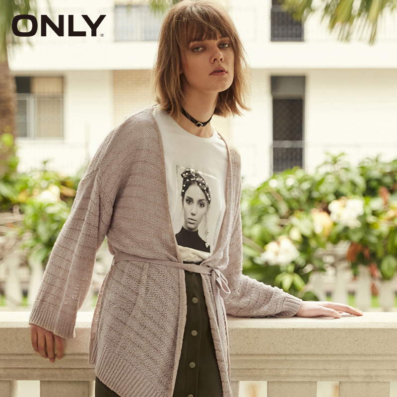 ONLY Women's  Spring Loose Fit Pure Color Cardigan| 11913A508