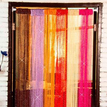 40 Glitter Fringe String Curtain Shiny Tassel Flash Silver Line String Curtain Window Panel Room Divider Fly Screen Door Hanging