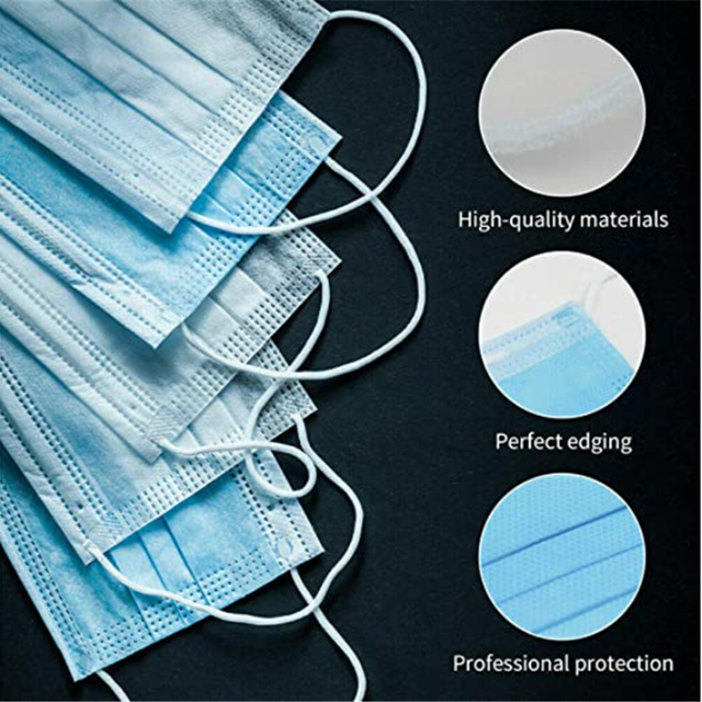 50Pcs/Pack Disposable mask Flu Hygiene Face Mask3-Layer Non-woven Disposable Elastic Mouth Soft Breathable as  KF94 5