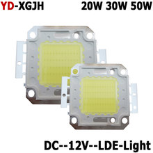 hot DC12V LED Floodlight 20W 30W 50W White Warm White LED Chip 20W 30W 50 W Watt For LED Floodlight Spotlights Outdoor Lighting