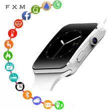 FXM New Arrival X6 Smart Watch Men Digital Male Watch with Camera Touch Screen Support SIM TF Card Bluetooth Sport Smart watch