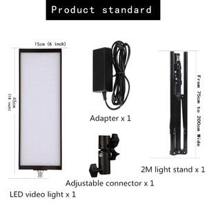 Image 2 - GSKAIWEN 60W LED oświetlenie studia fotograficznego zestaw lampa wideo Panel regulowane światło ze statywem do zdjęć portretowych