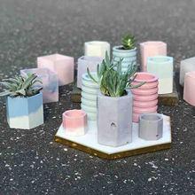 Concrete Silicone Molds for Pots Pen container molds Flower Pot Molds concrete maker