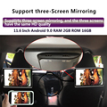 32956364523 - 11,6 pulgadas Android 9,0 2GB + 16GB monitor para reposacabezas de coche 4K 1080P mismo pantalla con WiFi/Bluetooth/USB/SD/HDMI/FM/enlace espejo/Miracast