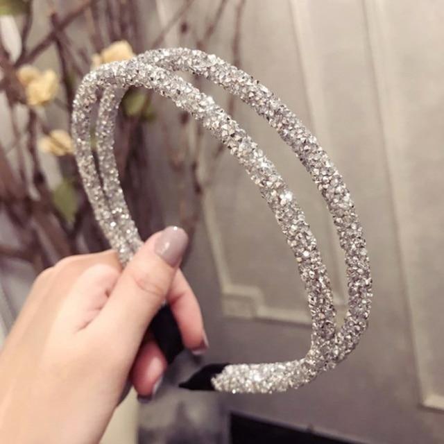 Girls Shiny Luxury Rhinestone Hair Band High Quality Diamond Pearls Hair Hoop Accessories for Women Crystal Headbands Ornaments 3