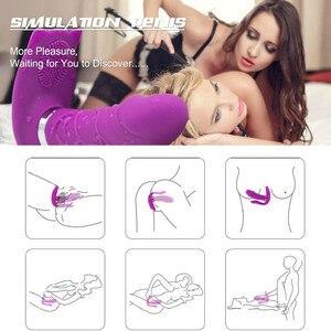 Image 5 - Heating Wearable Dildo Vibrator for Women Masturbator Panties G Spot Clitoris Stimulator Remote Control Panties Adult Sex toys