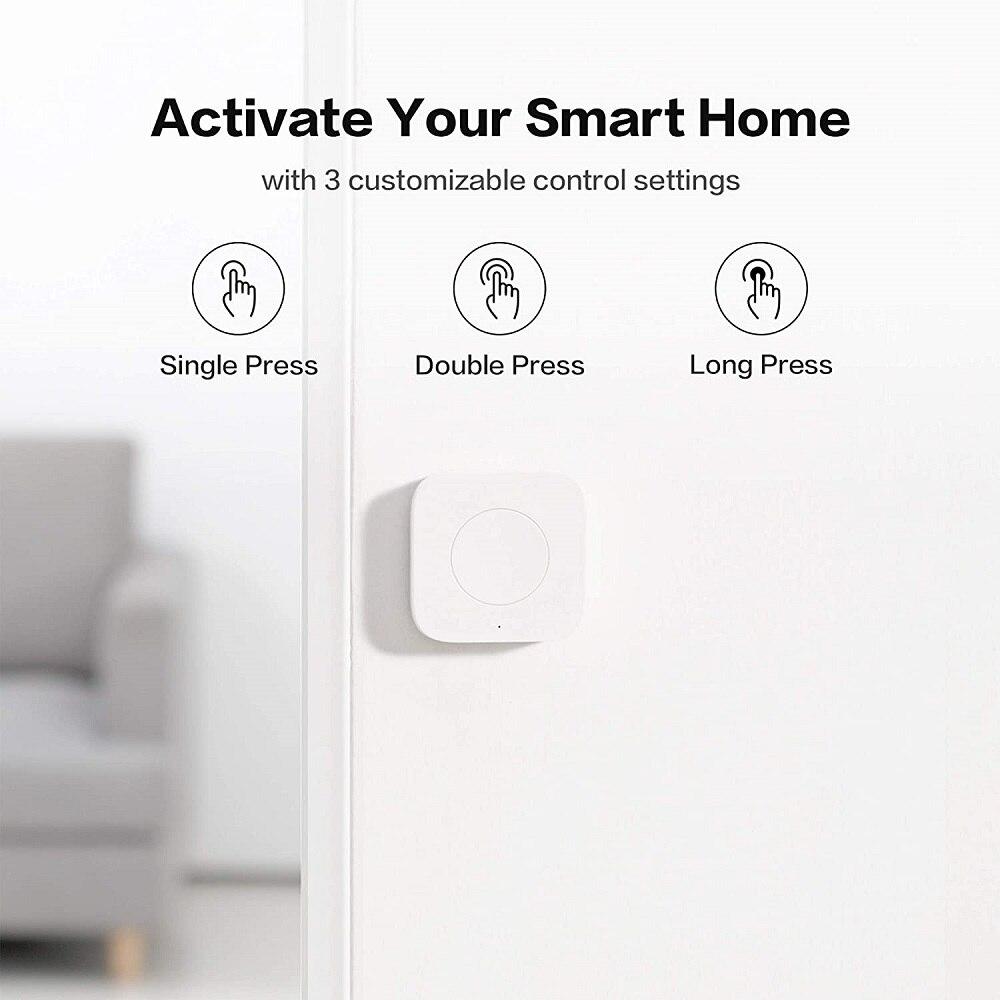 Мини беспроводной переключатель Aqara Zigbee, универсальная 3-сторонняя кнопка управления для устройств умного дома, совместимая с Apple HomeKit