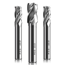 HSS 4 Flute End Mill Cutter 1 2 3 4 5 6 8 10 12 CNC Straight Shank Milling Woodworking Tool End Mill Router Bit For Wood Cutters
