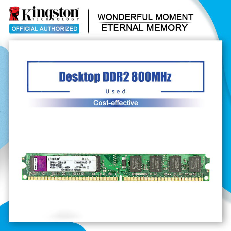 Kullanılan orijinal Kingston RAM DDR2 4 GB 2GB PC2-6400S DDR2 800MHZ 2GB PC2-5300S 667MHZ masaüstü 4 GB