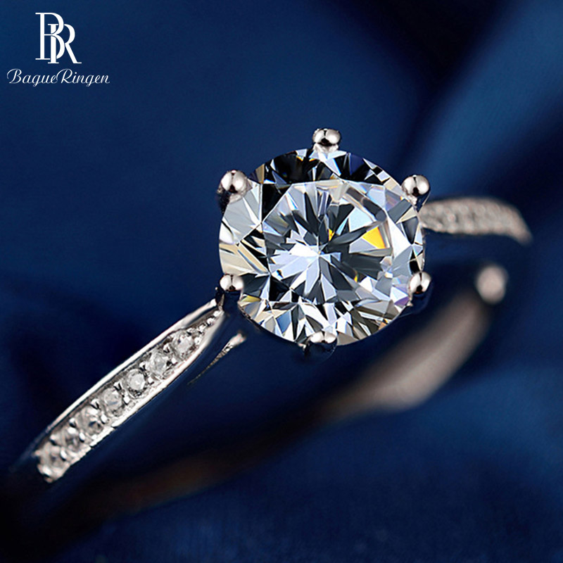 Bague Ringen Silver 925 Jewelry Rings For Women Wedding Party Fashion Geometry Zircon Valentine's Anniversary Gifts Accessories