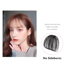 Bluelucky Hot Selling Fashion One Piece Clip On Human Hair No Sideburns Air Bang For Lovely Girls