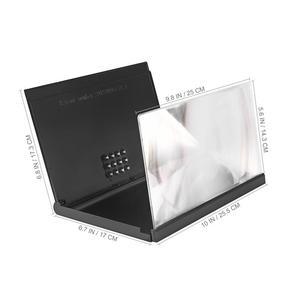 Image 5 - 3D Universele Screen Vergrootglas Smart Mobiele Telefoon Versterker Met Opvouwbare Houder Stand Voor Films Kijken Video (Zwart)