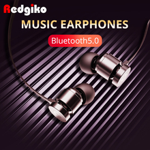 цена на Redgiko Earbuds Handsfree Bluetooth Earphones In-ear Noise Cancelling Headset Sport With Update Magnetic Wireless