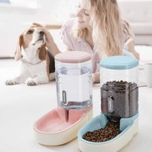 Pet Cat Dog AutoMatic Feeder Plastic Kettle Large Capacity Food Dispenser And Feeding Bowl supplies