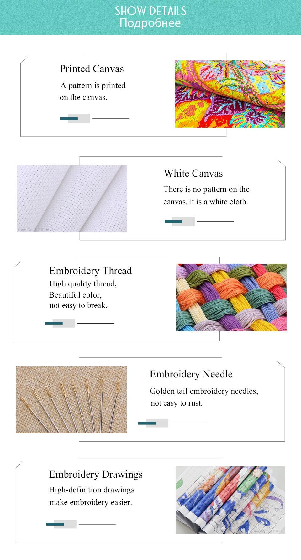 Joy Sunday Cross Stitch Kits Sale 11CT 14CT Embroidery Cross Stitch Kit for Needlework Cross Stitch Sets for Embroidery DIY Crafts (5)