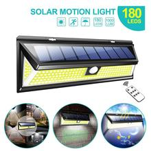 RC Outdoor 180 LED COB 3 Modes Solar Lamp PIR Motion Sensor 4000LM Solar Wall Light Waterproof Emergency Garden Yard Lamps