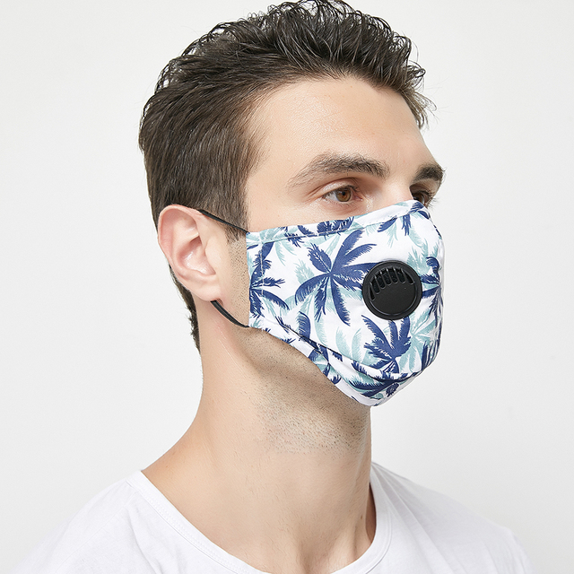 3set Anti Flu Totem Mouth Mask Fashion Reusable Dustproof Face Mask Breathable With Fliter Pad Warm Mouth fabric Mask 1