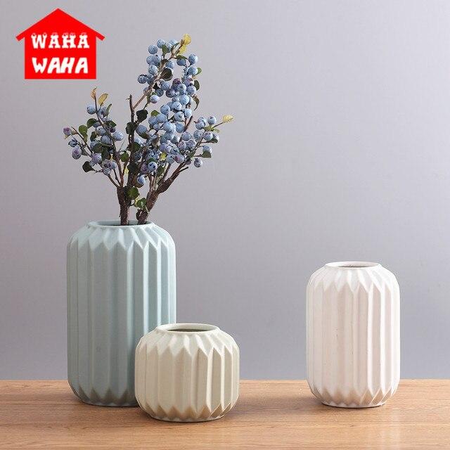 Modern Ceramic Vase Minimalist Creative Tabletop Vase Home Decoration Vase Fashion Modern European Style Geometric Flower Vase 1
