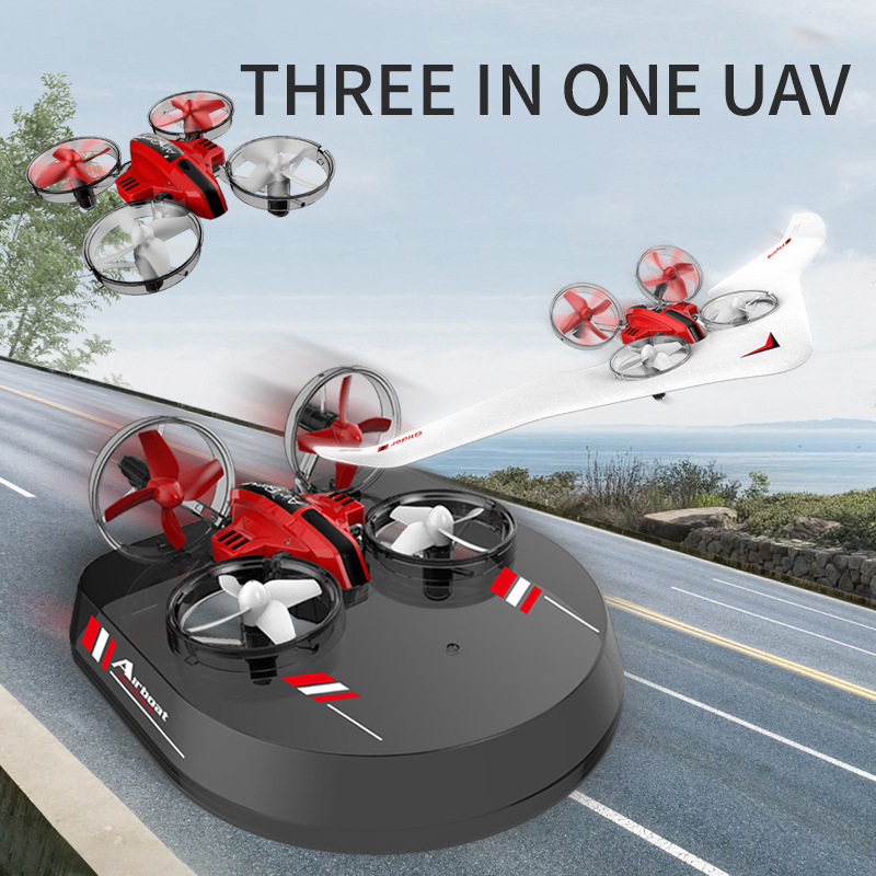 Land And Air Dual-use Three-in-one Quadcopter Child Remote Control Aircraft Drone Student Small Toy Gift