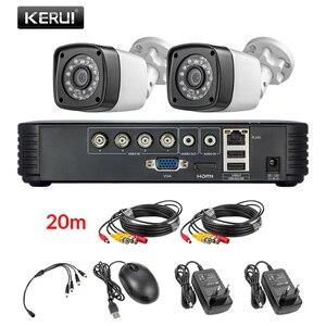 Image 2 - KERUI 4MP na zewnątrz odporne na warunki atmosferyczne 4CH zestaw dvr 5in1 ahd dvr system cctv 2/4 sztuk system bezpieczeństwa kamery dzień/noc wideo z domu kamery