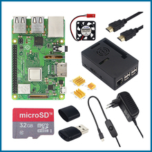 S ROBOT Raspberry Pi 3 Model B + 3.5 inch touch screen LCD + ABS case + 32GB SD card + 3A power adapter + heat sink + HDMI RPI53 raspberry pi 3 model b nespi case plus 2 wireless gamepad 32gb sd card 3a power adapter fan heat sink for retropie