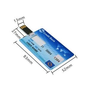 Image 5 - חדש בנק כרטיס USB דיסק און קי ויזה כרטיסי עט כונן 2.0 4gb 8gb 16gb 32gb 64gb USB אשראי כרטיס Memoria מקל pendrive לוגו מותאם אישית
