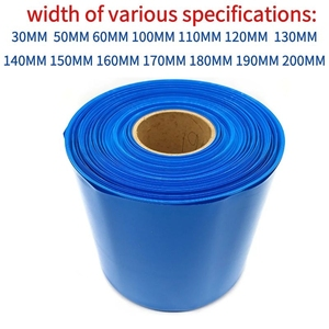 1m 18650 lithium battery sleeve sheath PVC heat shrinkable tube shrink film of various sizes shrink sheath(China)