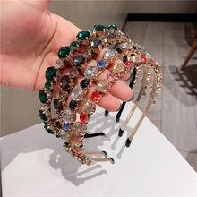 Designer Headbands For Women Hair Accessories Tiara With Stone Gem Diademas Para El Pelo Mujer повязка на голову Tiara De Cabelo