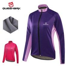 Bicycle Jersey Cycling-Jacket Windbreaker Queshark Sportwear Bike Riding Fleece Women's