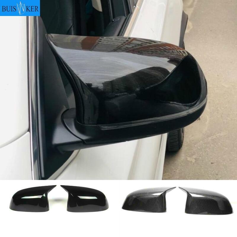 Одна пара крышек зеркал заднего вида для bmw X3 F25 G01 X4 F26 G02 X5 E70 F15 G05 X6 E71 F16 G06, крышки зеркал из АБС-пластика, Замена оригинала