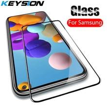 KEYSION 9D Gehärtetem Glas für Samsung A21S A41 A31 A21 A11 A01 Volle Abdeckung Screen Protector Glas Film für Galaxy m31 M21 M30S