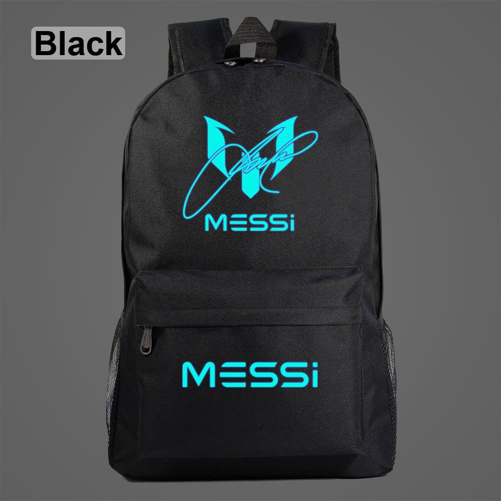 AL3203 Luminous Football Stars Messi 10 Number  Boy  Girl School Bag Teenagers Student Schoolbags Women Packsack Men  Backpack