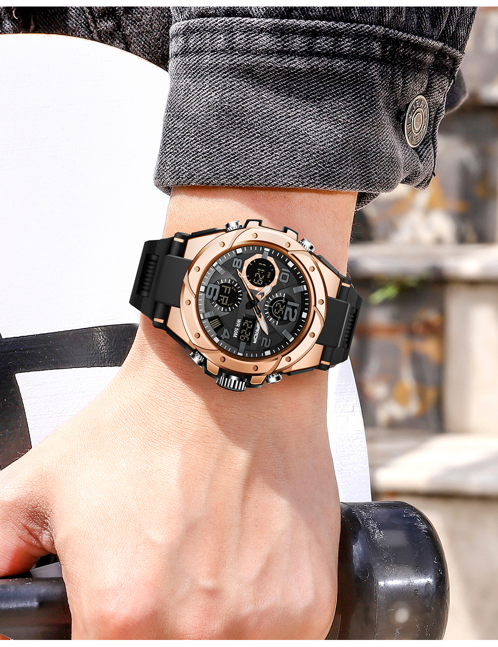 H60c9ca2417054b6f9e422978034a2f97i SANAD Top Brand Luxury Men's Military Sports Watches 5ATM Waterproof
