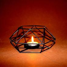 Hollow Hexagon Shaped Geometric Design Decorative Tealight Votive Candle Holder Home Decor solid bottom cup Holders