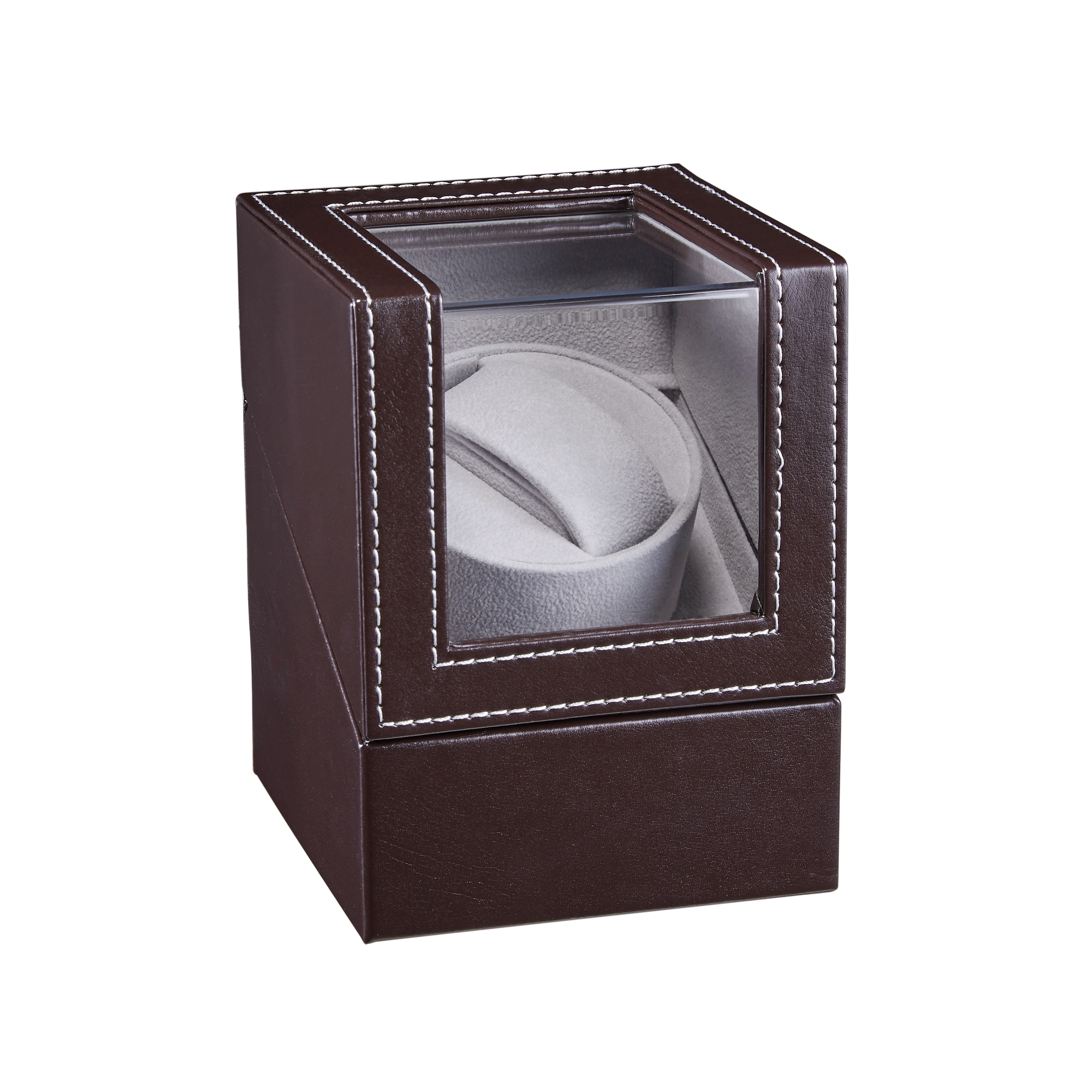 New Automatic Mechanical Watch Winder Leather Watch Box High Class Motor Shaker Watch Holder Display Jewelry Box W125A | Watch Winders