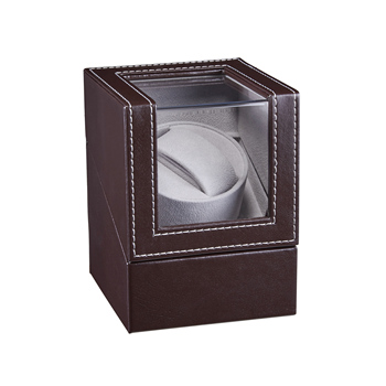 New Automatic Mechanical Watch Winder Leather Watch Box High Class Motor Shaker Watch Holder Display Jewelry Box W125A
